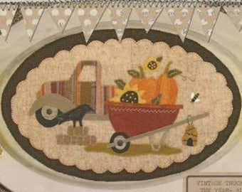 "Pattern: August Vintage Truck Thru the Year - ""Wheelbarrow"" by Buttermilk Basin"