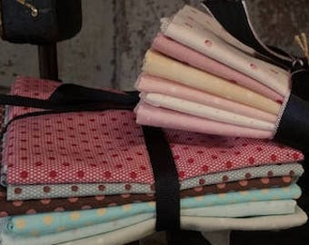 Fabric: Bundle FQ 6pc - Polka Dots Series