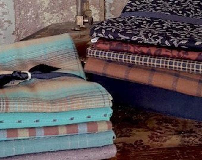 "Fabric: Bundle FQ 5pc - ""Browns/Blacks"" & ""Tropical Waters"""