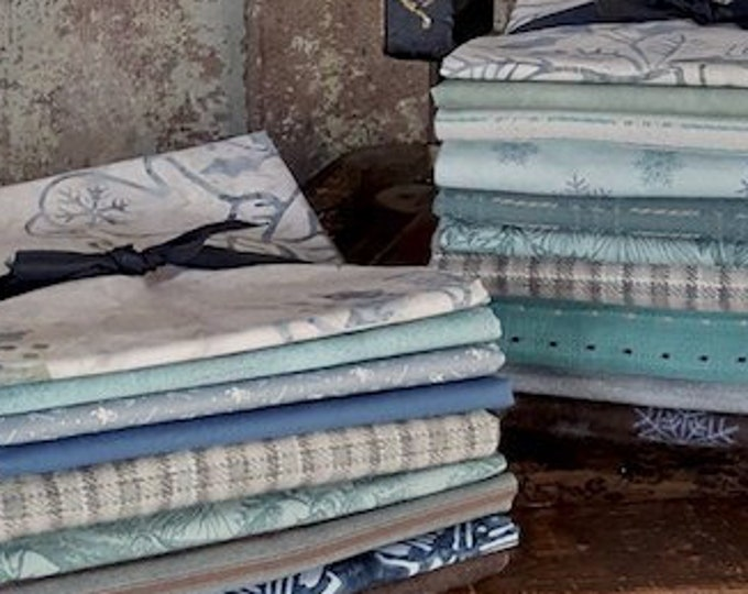 "Fabric: Bundle HALF YD ""Snowy Season"" Sampler"