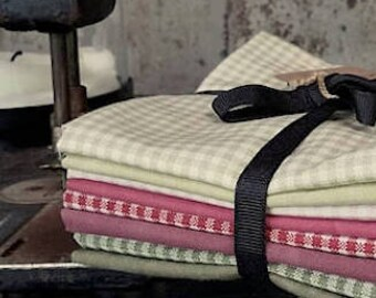 Fabric: Bundle FQ 8pc - Gingham & Solids