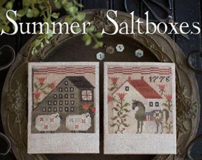 Pattern: Summer Saltboxes Cross Stitch  by Plum Street Samplers