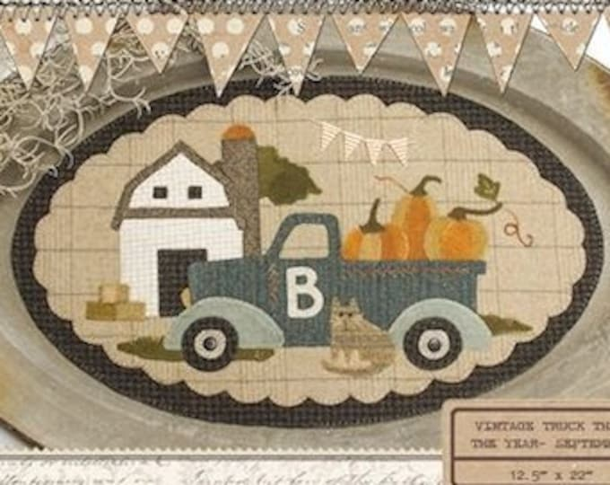 "Pattern: September Vintage Truck Thru the Year - ""Barn"" by Buttermilk Basin"