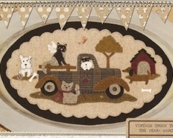 "Pattern: Vintage Truck Thru the Year - March ""Pet Rescue"" by Buttermilk Basin"