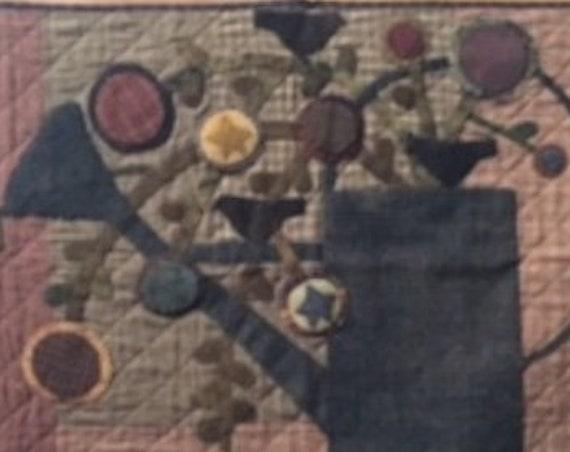 "Pattern: ""Flower Bucket"" Quilt Pattern by Primitive Pieces by Lynda"