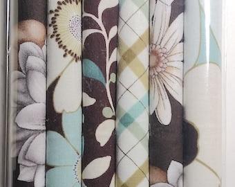 Fabric: Fat Eighth Mini Pencil Pak- MOD GARDEN 6- 9x22 inch pieces