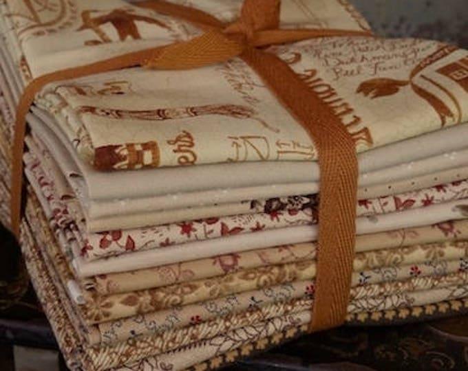Fabric: Bundle FQ 12pc Sampler Bundle - Shades of Tan