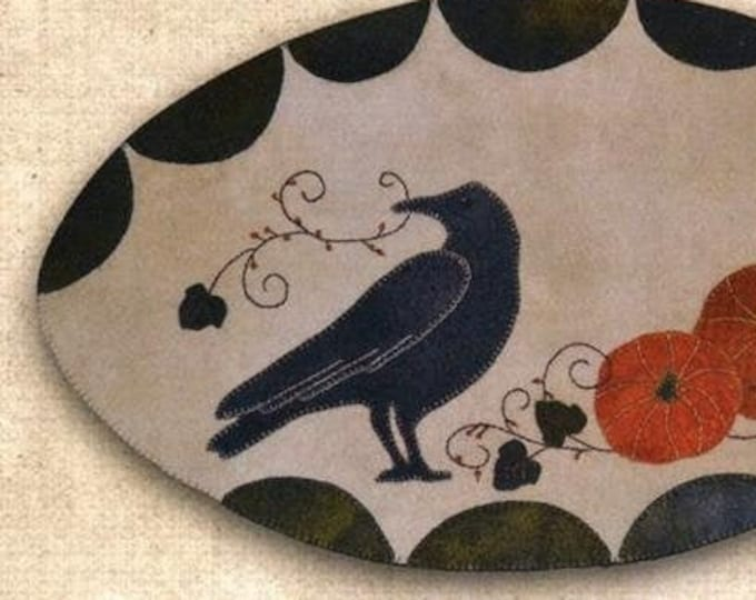 Pattern: October Crow Wool Applique by Lake View Primitives