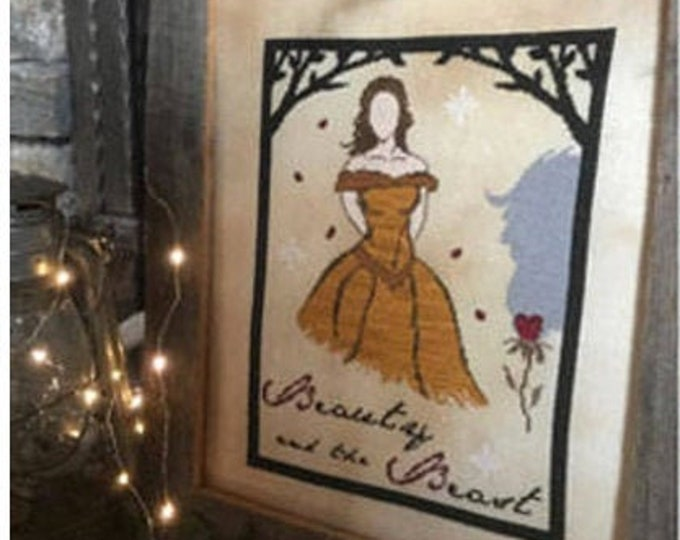 Pattern: Beauty and the Beast Cross Stitch - by The Primitive Hare