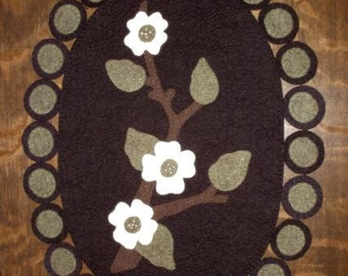 """Pattern: """"Dogwood"""" Wool Applique by Lake View Primitives"""