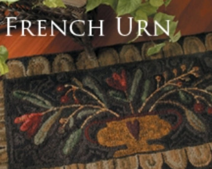 "Pattern: Rug Hooking Pattern ""French Urn"" by Maggie Bonanomi for  Needle Love Designs"