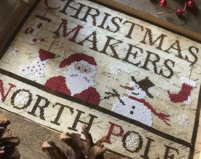 Pattern: Christmas Makers Cross Stitch -  by The Primitive Hare
