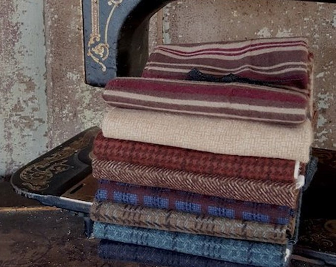 """Fabric: Bundle FQ Flannel 8pc - """"Country Flannels"""""""