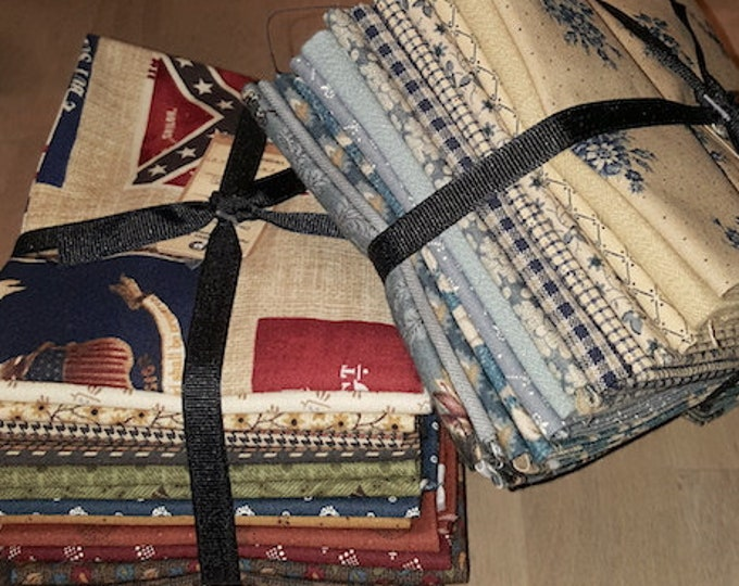 Fabric: Bundle FQ 13pc Sampler- Reds & Browns / Country Blues