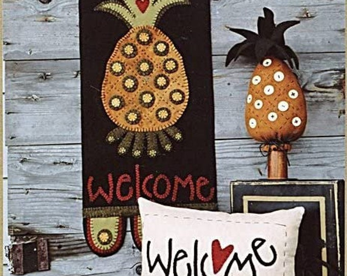 "Pattern: ""Welcome to Our Home"" Wool Appliqué and Crafts by Wooden Spool Designs"