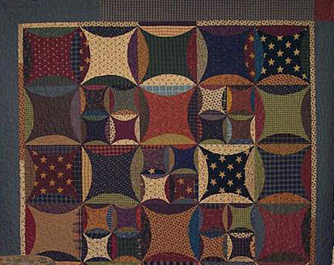 Kit & Pattern: Peter Paul and Aunt Mary Quilt Pattern by Primitive Pieces by Lynda