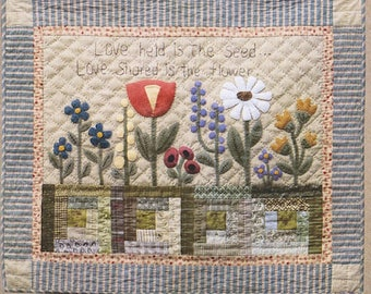 """Pattern: Wool Applique """"Love Shared"""" by Timeless Traditions by Norma Whaley"""