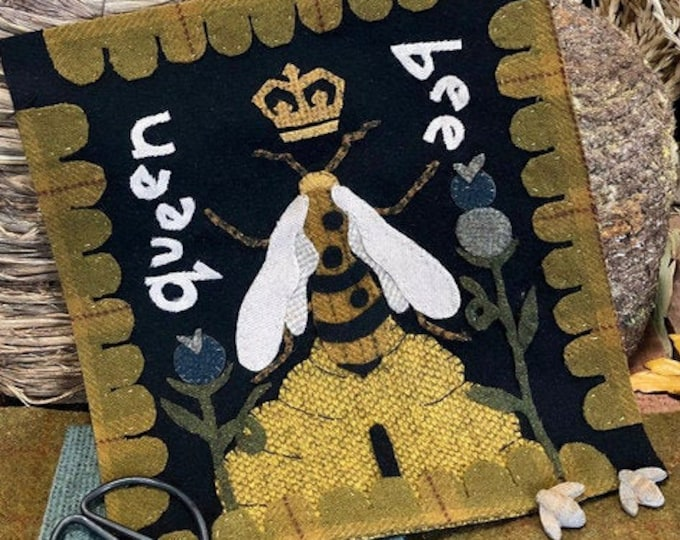 "Pattern: ""The Bee Keepers SIX BLOCK SERIES"" Wool Appliqués by 1894 Cottonwood House"