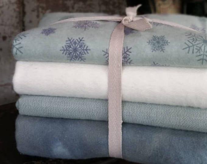 Fabric: Bundle 4pc HALF YD or 8pc FAT Quarter Flannel  Bundle - Winter Collection
