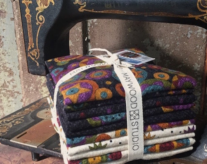 Fabric: Bundle FQ Flannel 10pc - Penny Rug Flannel- Maywood Studio