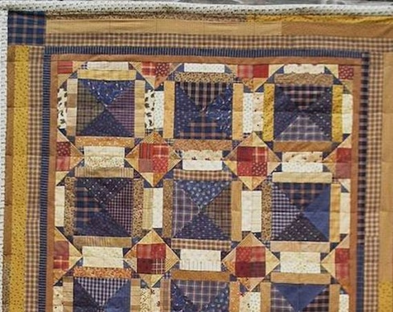 "Pattern: ""Barn Mischief"" Quilt Pattern by Primitive Pieces by Lynda"