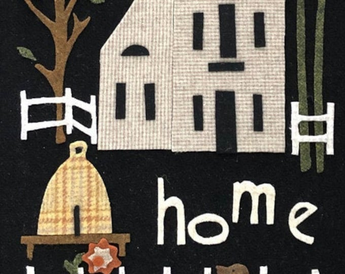 "Pattern: ""The Farmhouse"" Wool Appliqué by 1894 Cottonwood House"