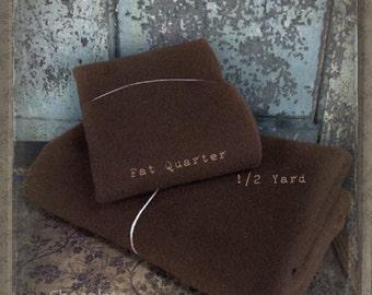 Wool: Half Yard 100% Wool - CHOCOLATE - Marcus Fabrics