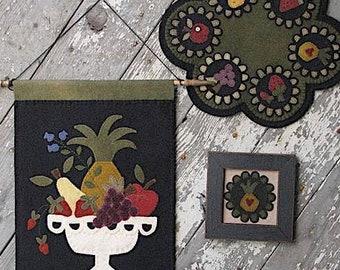 Pattern: Fresh Fruit Wool Applique by Wooden Spool Designs
