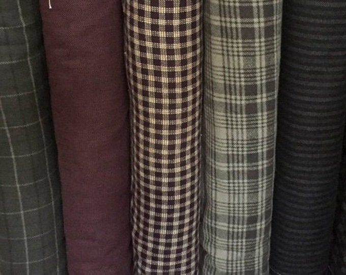 Fabric: Winter Flannel Yardage - Primo Plaid Flannel line by Marcus Fabrics