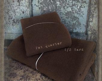 Wool: Fat Quarter 100% Wool - CHOCOLATE - Marcus Fabrics