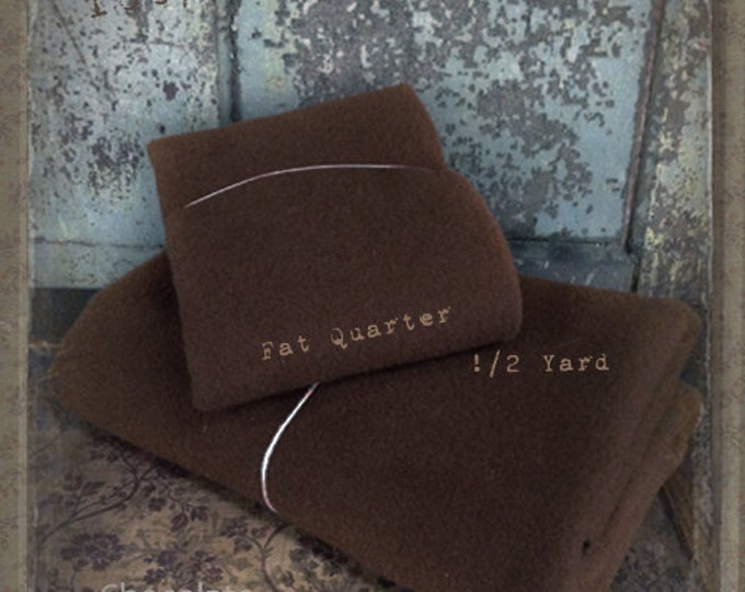 Wool: Fat Quarter 100% Wool - CHOCOLATE - Marcus Fabrics