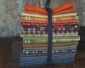 Fabric: Flannel Sampler Bundle - 23pc Assorted various sizes.