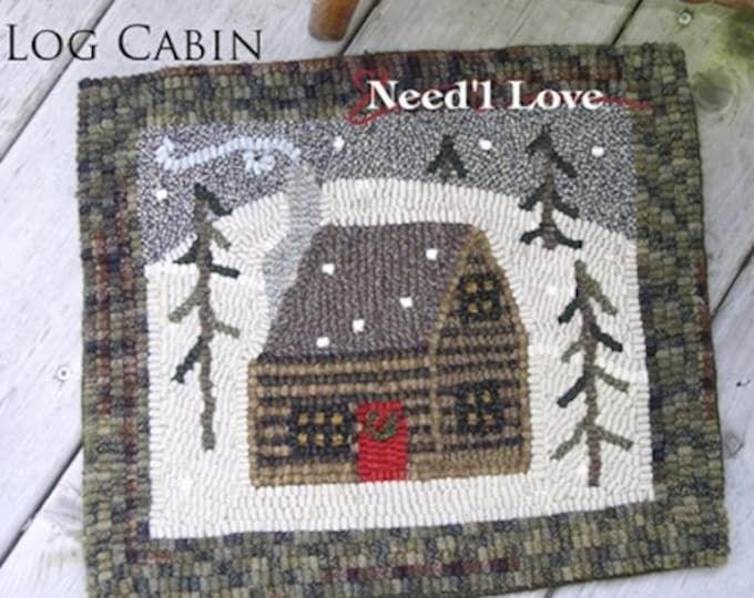 "Rug Hooking Pattern: - ""Cabin in the Pines"" designed by Shirley Blystone & Renee Nanneman, Needle Love Designs"