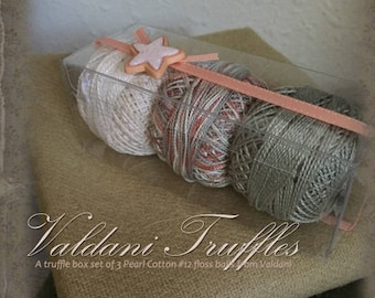 "Valdani Thread: Gift Set/3 Perle Cotton Embroidery Thread Balls - ""Summer Beach"" Collection"