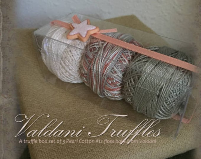 "Valdani Thread: Gift Set/3 Perle Cotton Embroidery Thread Balls - ""Summer Beach"" Collection"
