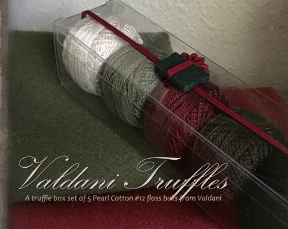 "Valdani Thread: Gift Set/5 Perle Cotton Embroidery Thread Balls - ""Christmas Village"" Collection"