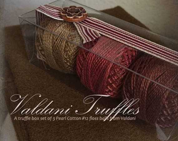 """Valdani Thread: Gift Set/3 Perle Cotton Embroidery Thread Balls - """"Gingerbread Spice"""" Collection"""