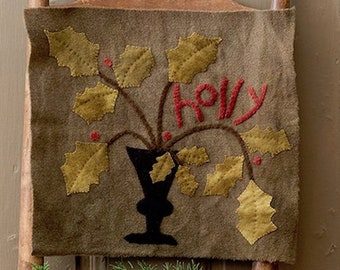 """Wool Kit and Pattern:  """"Holly Days"""" by  Maggie Bonanomi"""