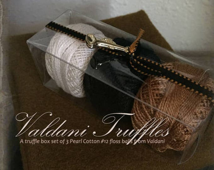 "Valdani Thread: Gift Set/3 Perle Cotton Embroidery Thread Balls - ""Fall Notes"" Collection"