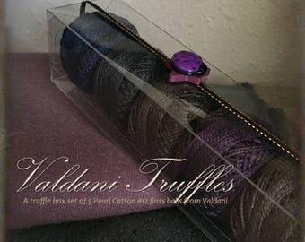 "Valdani Thread: Gift Set/5 Perle Cotton Embroidery Thread Balls - ""Blueberry Basket"" Collection"