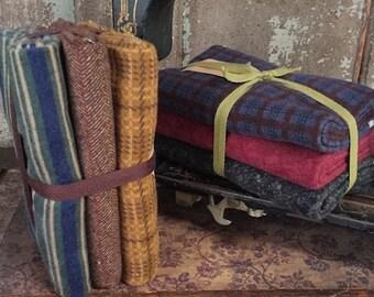 "Fabric: Bundle Half Yards ""Flannel Sampler"" (3pc) Wool & Needle, Hollly Taylor"