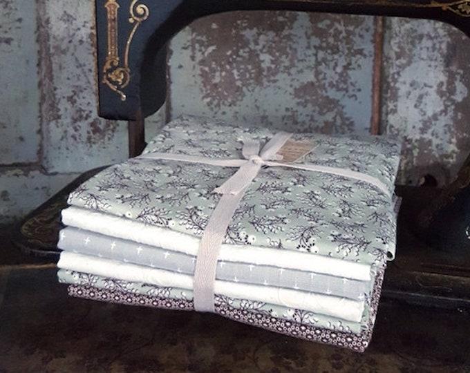 Fabric: Bundle HALF YARD 6pc Taupe & Wintergreen by Moda Fabrics