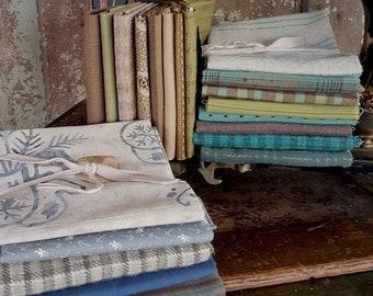 Fabric: Bundle FQ Sampler- Blues/Greens/Aqua
