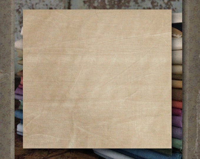 "Fabric 1 YARD: Aged Muslin Cloth (New) -  Color ""Tan""  #3611 Marcus Fabrics"