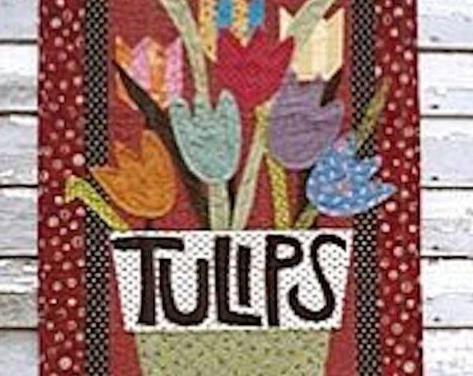 "Pattern: ""Pot O' Tulips"" Wall Quilt Pattern by Country Threads"