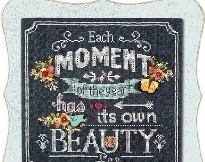 Pattern & Special Kit: A Moment in Chalk - Cross Stitch by Hands on Design