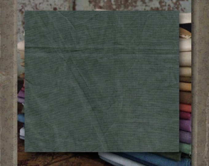 "Fabric 1 YARD: Aged Muslin Cloth (New) - Color ""Pine"" #7697-0115 Marcus Fabrics"