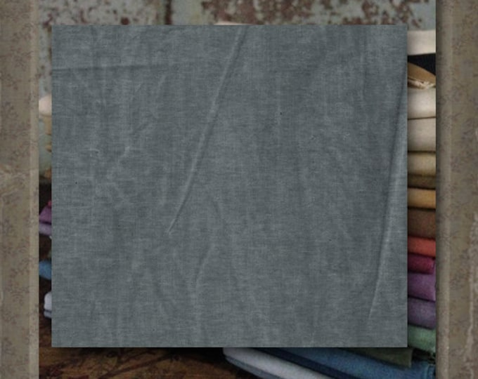 "Fabric 1 YARD: Aged Muslin Cloth (New) - Color ""Silver"" #9676 Marcus Fabrics"