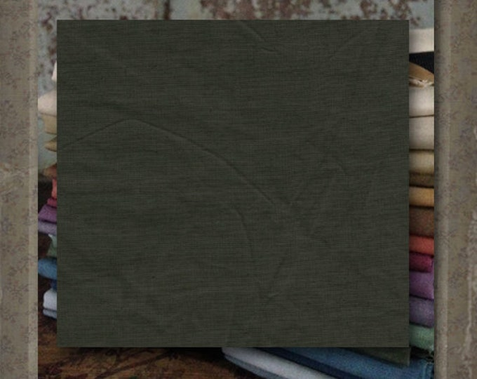 "Fabric 1 YARD: Over-dyed Aged Muslin Cloth (New) - Color ""Basil"" #7756-0114 Marcus Fabrics"