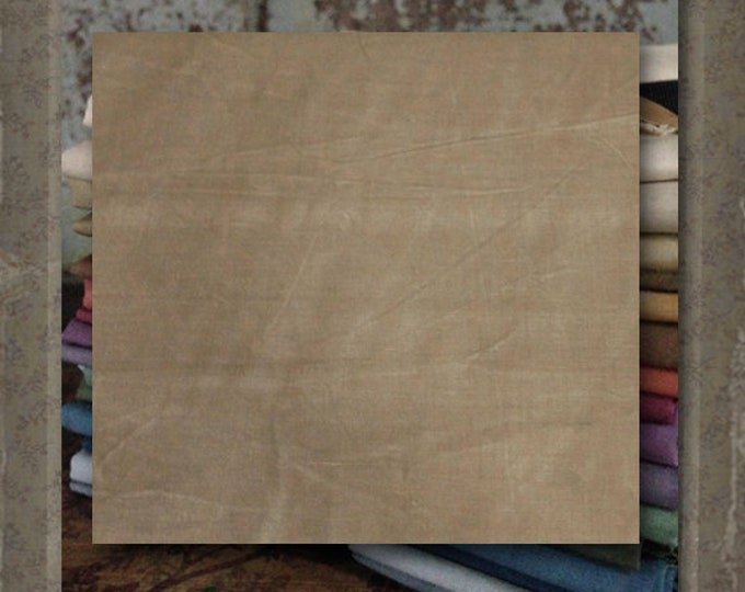 "Fabric 1 YARD: Aged Muslin Cloth (New) -  Color ""Khaki""  #Y140-140D Marcus Fabrics"